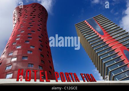 Hotel Porta Fira in Barcelona. Spain. - Stock Photo