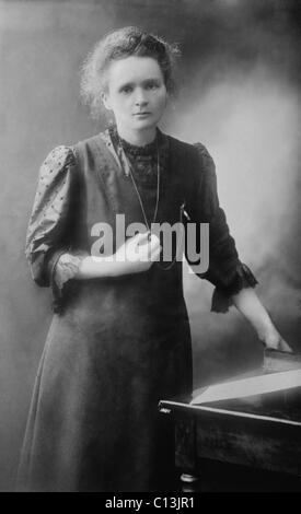 Marie Curie (1867-1934), Polish-French physicist who won two Nobel Prizes, in 1903 for Physics and 1911 for Chemistry. - Stock Photo