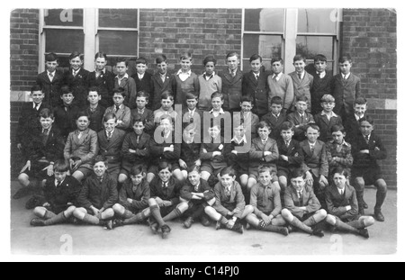 Boys' school scholarship group photograph dated May 1931 - Stock Photo
