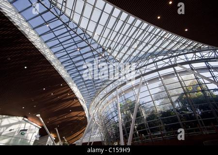Inside Kuala Lumpur International airport, Malaysia - Stock Photo