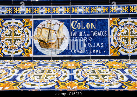 Bench with azulejos tiles on plaza de espana in seville spain stock photo royalty free image - Azulejos tenerife ...