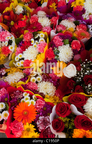 Flowers, Los Angeles Flower District, downtown LA, California, USA - Stock Photo