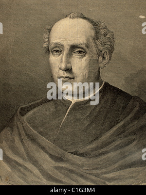 Christopher Columbus (1451 -1506) . Navigator, colonizer, and explorer. Engraving by Carretero. - Stockfoto