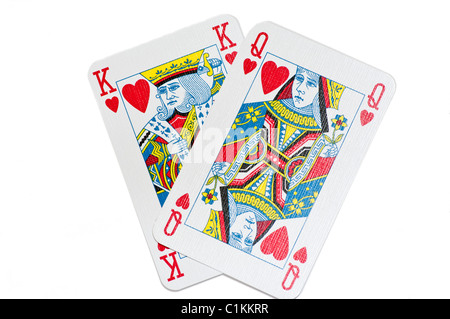 King And Queen Playing Cards - Stock Photo