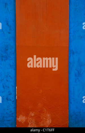 Painted stucco wall, cropped - Stock Photo