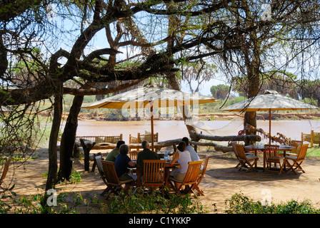 On Safari Lodge Camp Tent Kenya Wildlife Tsavo West Kenia East Stock Photo Royalty Free Image