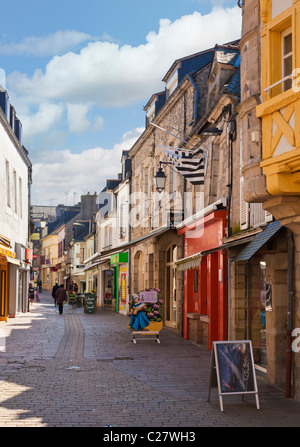 rue du fil pontivy morbihan brittany france stock photo royalty free image 9070506 alamy. Black Bedroom Furniture Sets. Home Design Ideas