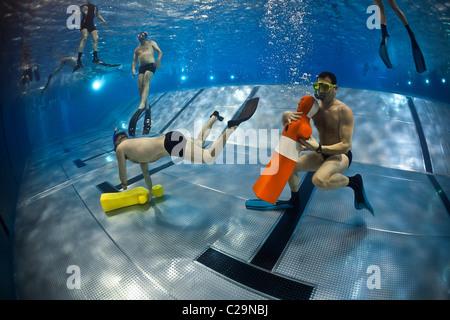 Lifeguard At Indoor Pool Stock Photo Royalty Free Image 549786 Alamy