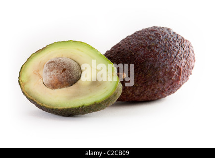 Tropical Fruit Avocado - opened and unopened - Stock Photo