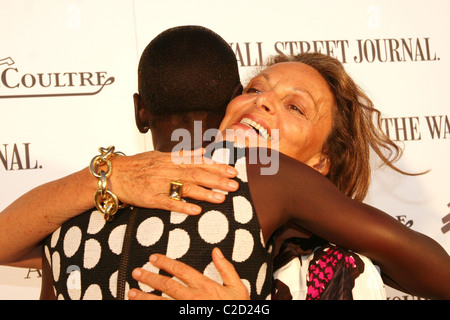 Alek Wek and Diane von Furstenberg, Iman Launching of Alek ...