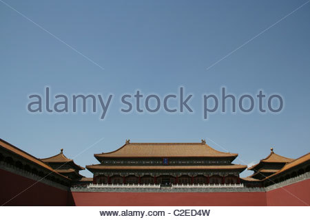 Scenery of the Forbidden City in Beijing,China - Stock Photo
