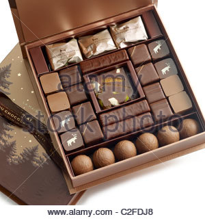 large box chocolates - Stock Photo