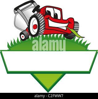 Cartoon Lawn Mower Clip Art Stock Photo Royalty Free