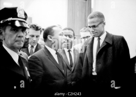 Martin Luther King and Malcolm X - Stock Photo