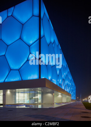 National Aquatics Center, Beijing, China - The Water Cube. PTW Architects, Arup, CSCEC and CCDI. - Stock Photo