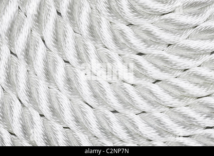 Close-up of a white rope - Stock Photo