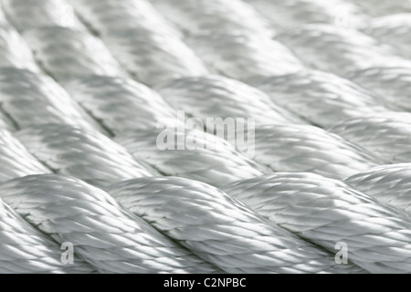 Macro study of a new rope - Stock Photo