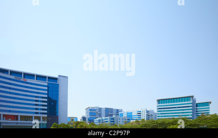 India, Hyderabad, development, growth, business, colour, color, vibrant, street, new, old, Holi, finance, money, - Stock Photo