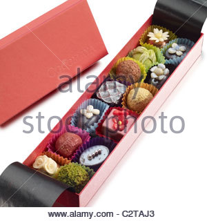 pretty box of chocolates - Stock Photo