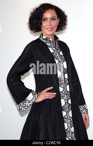 Linzi Stoppard models the world's most expensive abaya. The diamond-encrusted Islamic dress, designed by couture - Stock Photo