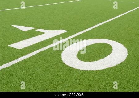 Ten-yard line indicator - Stock Photo