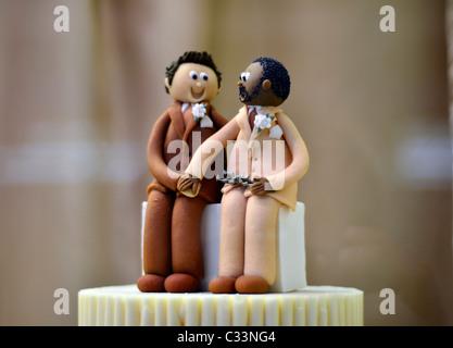 Gay Wedding Cake, Civil Partnership - Stockfoto