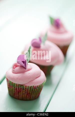 pastel cupcakes - Stock Photo