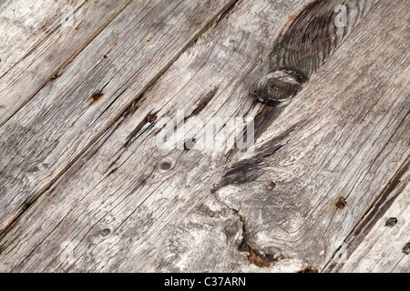 Old Wooden Planks and Nails - Stockfoto