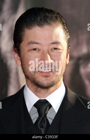 TADANOBU ASANO THOR. PREMIERE. PARAMOUNT AND MARVEL. HOLLYWOOD LOS ANGELES CALIFORNIA USA 02 May 2011 - Stock Photo