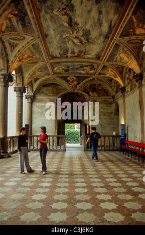 Loggia Romanino in the Castello del Buonconsiglio - Stock Photo