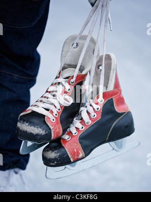Old-fashioned ice skates - Stockfoto
