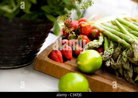 Close up of fresh fruits - Stockfoto