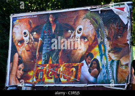 Bollywood movie poster, Rajasthan, India, Asia - Stock Photo