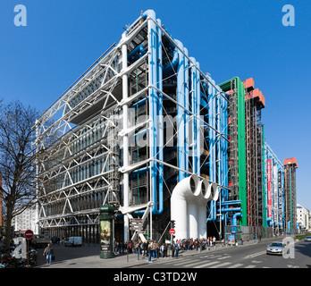 Pompidou Centre, Beaubourg district, 4th Arrondissement, Paris, France - Stock Photo