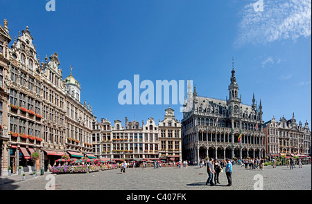 Belgium, Europe, Bruxelles, Brussels, La Grand Place, Grote market, UNESCO, world cultural heritage, city hall, - Stock Photo