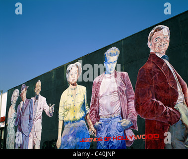 Mural of the hollywood movie stars hollywood california for Celebrity mural