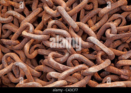 rusty chain - Stock Photo