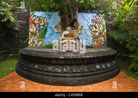 BRAHMA VIHARA ARAMA is the island only BUDDHIST MONASTERY located near LOVINA in the north of the island - BALI, - Stock Photo