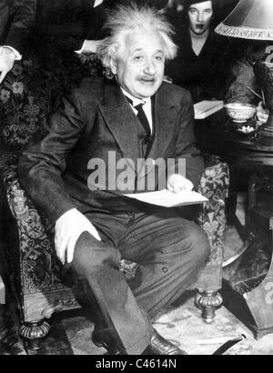 Albert Einstein, 1934 - Stock Photo