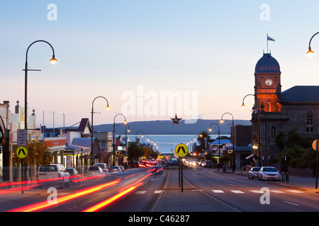 View of Town Hall and York Street at dusk. Albany, Western Australia, Australia - Stock Photo