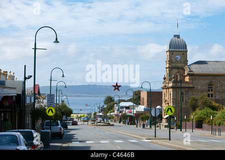 View of Town Hall and York Street. Albany, Western Australia, Australia - Stock Photo