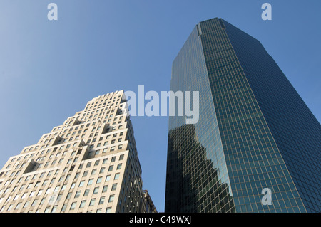 view of skyscrapers in New York; Usa - Stock Photo