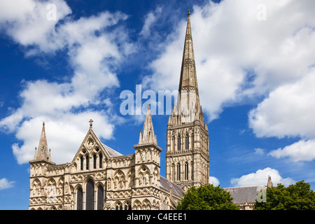Salisbury Cathedral, Wiltshire, England, UK - Stock Photo