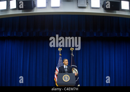 President Barack Obama participates in a press conference at the White House.  - Stock Photo