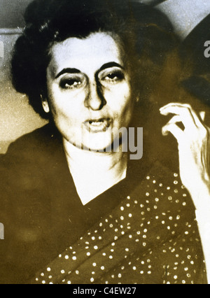 Indira Gandhi (1917-1984). Indian politician and the leader of the Indian National Congress. Prime Minister. - Stock Photo