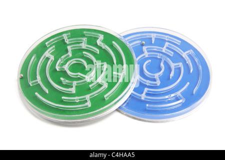 Plastic Maze Game - Stock Photo