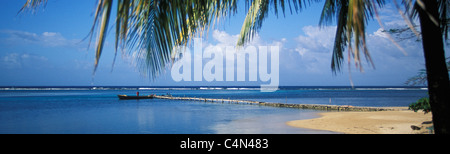 Navy Island, former property of Errol Flynn, Port Antonio, Jamaica Caribbean - Stock Photo