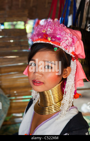 A ' Long Neck ' in Northern Thailand - Stock Photo