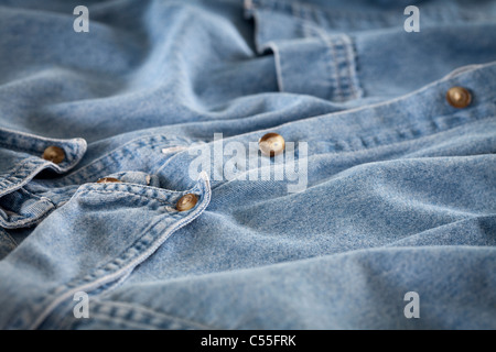 Old blue shirt - Stock Photo