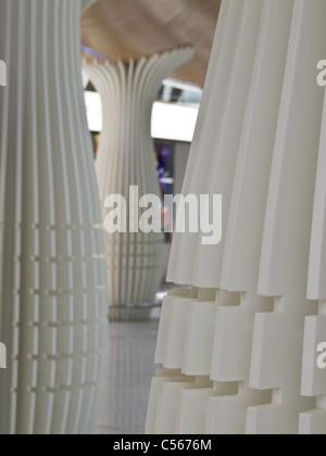 Kuala Lumpur International Airport  KLIA interior - Stock Photo